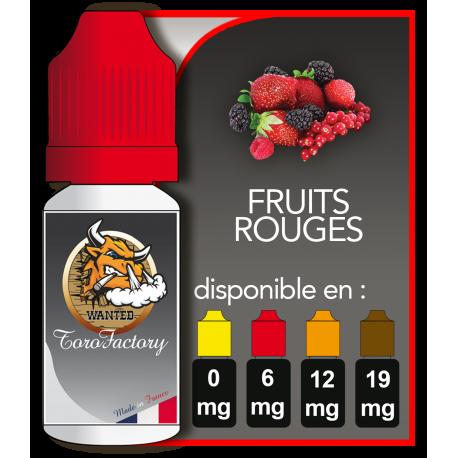 E-liquide francais goût saveur Fruits rouge